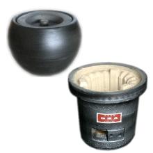 銀黒七輪と火消壷セット